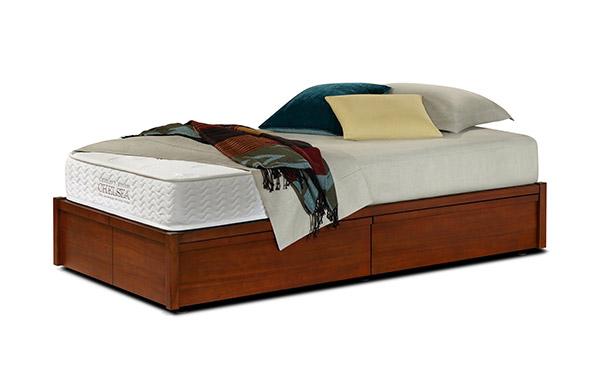 Mahogany storage bed twin size