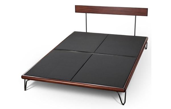 Case bed upholstered platform for mattress
