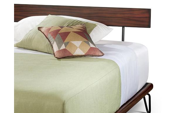 Case bed mahogany headboard detail