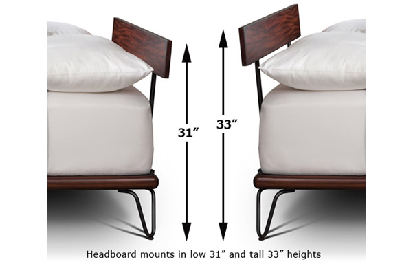 Case bed height options