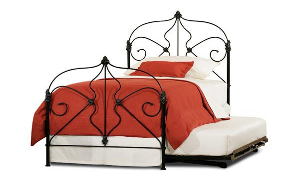 Marseille trundle bed with trundle – black iron