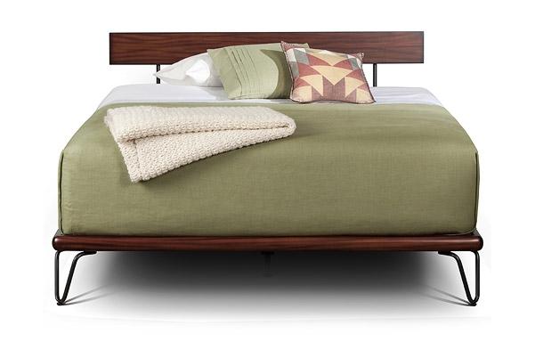 Case queen platform bed front view