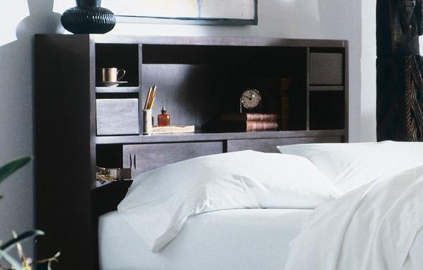Walden bookcase bed black finish detail