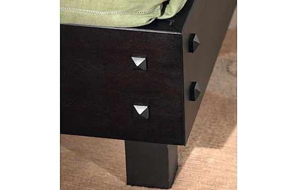 Maxion bed solid mahogany rail detail