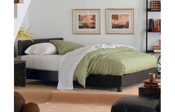 Maxion queen platform bed – espresso mahogany finish