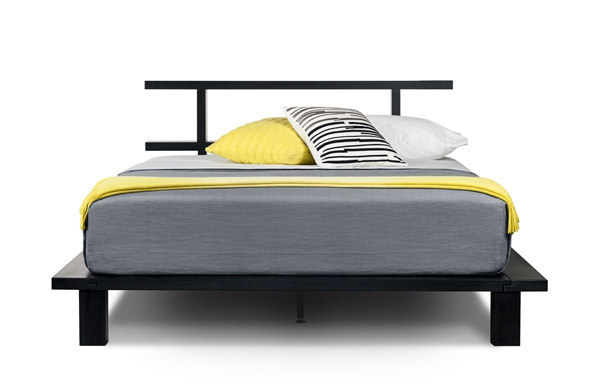 Zen queen platform bed front view