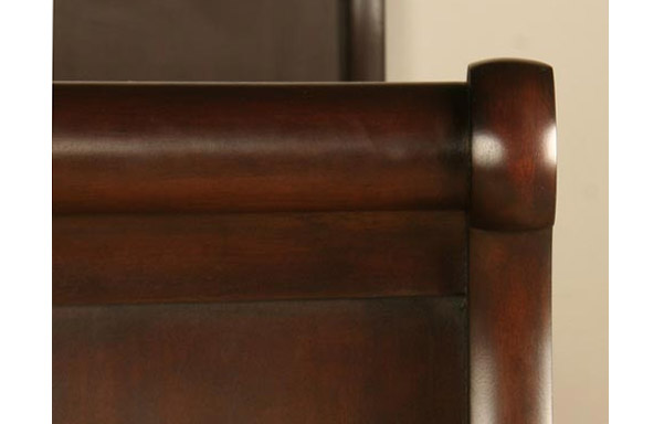 Chambord daybed mahogany crest rail
