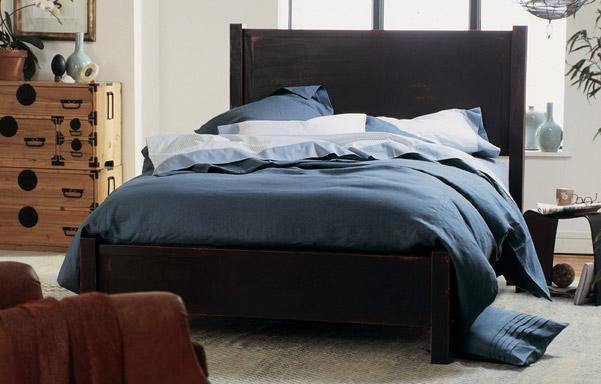 Walden bed in black finish
