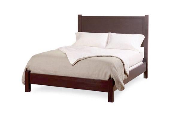 Walden bed In dark brown finish