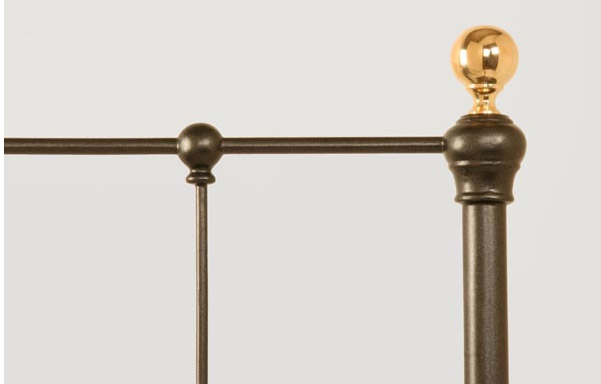 Craine wrought iron and brass bed detail