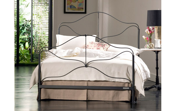 Provence iron bed traditional room setting