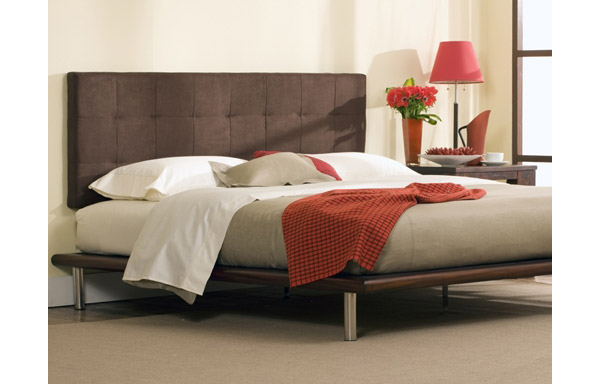 Mies platform bed with Poole headboard