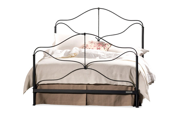 Provence wrought iron bed