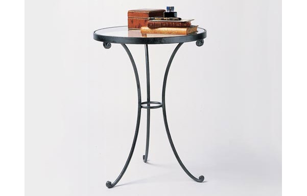 Gl Top Round Table Side Tables Charles P Rogers