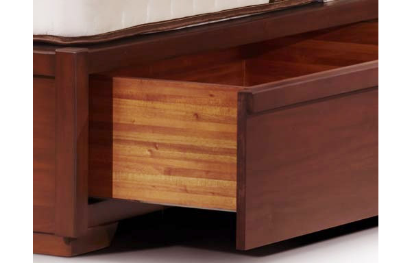 Sleigh platform bed drawer option