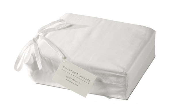 Organic cotton sheets in package