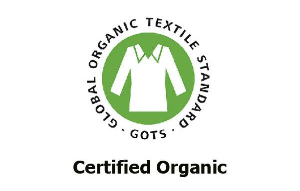Organic cotton certification seal
