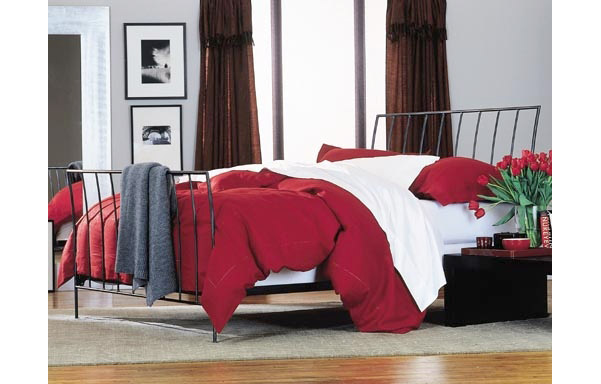 Milan bed with open footboard room setting