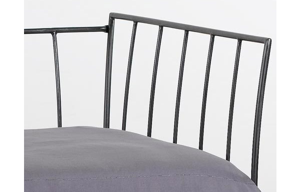 Milan daybed forged iron panel detail
