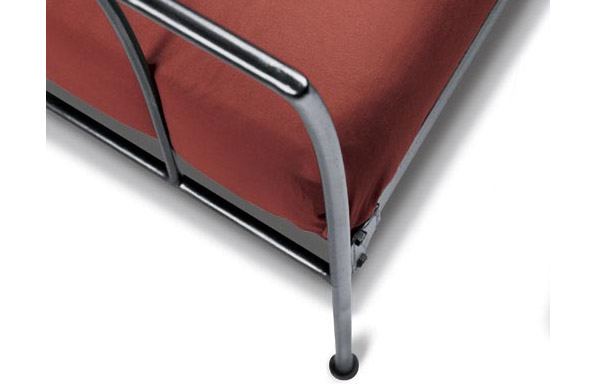 Milan chaise forged iron leg curve