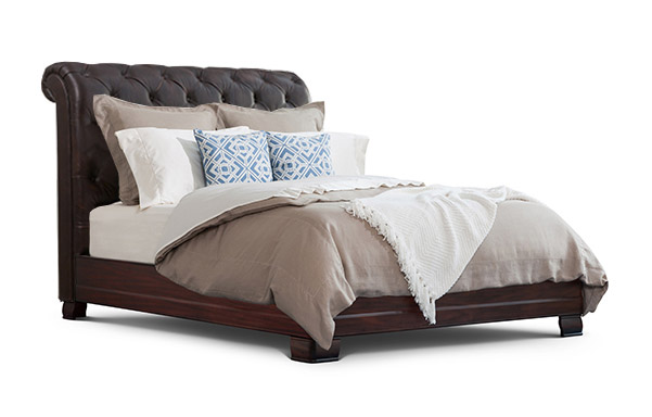 Hampton Tall Upholstered Bed (Year End Special)