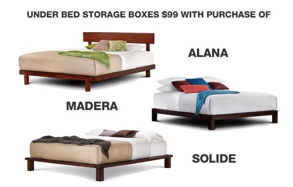Universal under bed storage $99