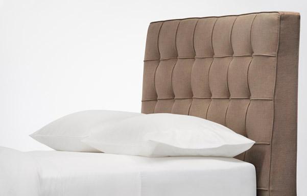 Pavilion brown velvet headboard detail