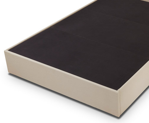 Upholstered deck provides proper mattress support