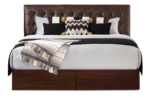 Newhouse King bed vintage chestnut with with mahogany base
