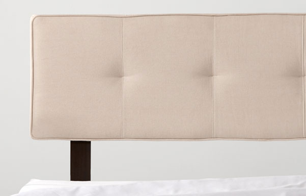 Alana linen upholstered headrest detail