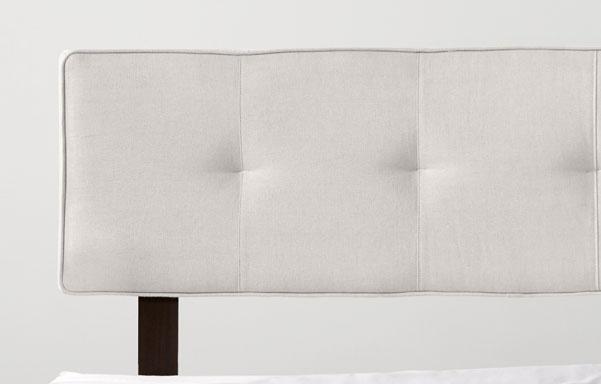 Alana natural white upholstered headrest detail